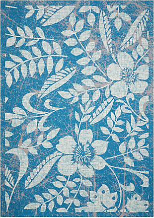Nourison Coastal Blue 5' x 8' Area Rug, Blue, large