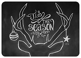 "Home Accents 1'10"" x 2'7"" Tis the Season Deer Doormat, , large"