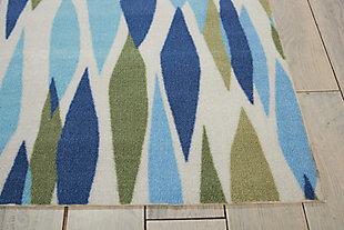 Nourison Waverly Sun N' Shade Green 5' Square Area Rug, Seaglass, large