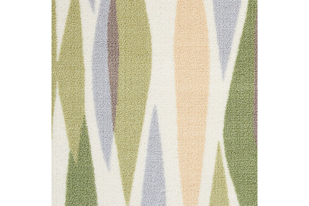 Nourison Waverly Sun N' Shade Purple 4'x6' Area Rug, Violet, large