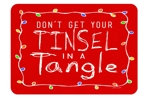 "Home Accents 1'10"" x 2'7"" Tinsel in a Tangle Doormat, , large"