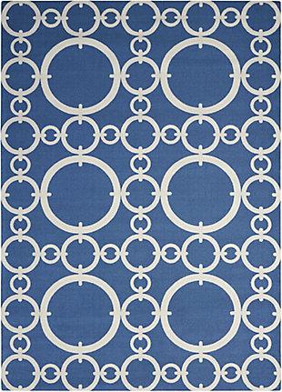 Nourison Waverly Sun N' Shade Dark Blue 5'x8' Area Rug, Blue, large