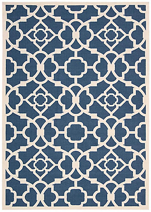 Nourison Waverly Sun N' Shade Blue 5'x8' Area Rug, Lapis, large