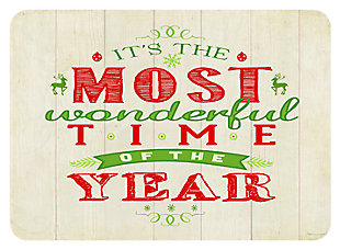"Home Accents 1'10"" x 2'7"" Most Wonderful Time of the Year Doormat, , large"