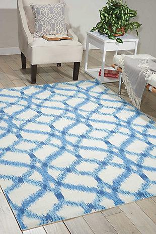 Nourison Waverly Sun N' Shade Green 5'x8' Area Rug, Aegean, rollover