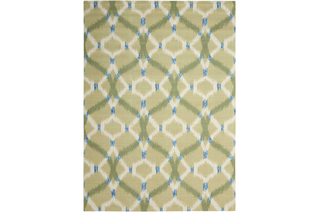Nourison Waverly Sun N' Shade Green 5'x8' Area Rug, Avocado, large