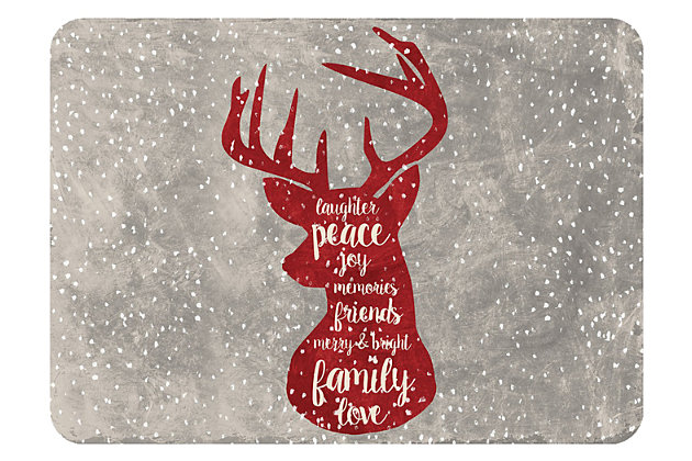 "Home Accents 1'10"" x 2'7"" Christmas Deer Doormat, , large"