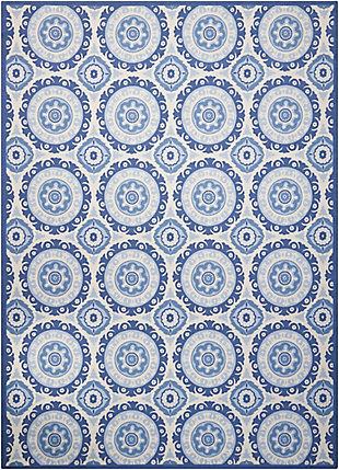 Nourison Waverly Sun N' Shade Dark Blue 5'x8' Area Rug, Navy, large