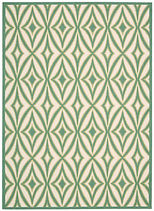Nourison Waverly Sun N' Shade Green 5'x8' Area Rug, Carnival, large