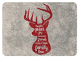"""Home Accents 1'10"""" x 2'7"""" Christmas Deer Doormat, , large"""