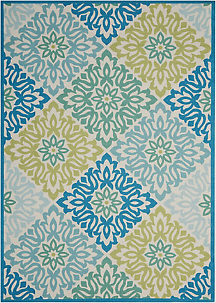 Nourison Waverly Sun N' Shade Blue 5'x8' Area Rug, Marine, large