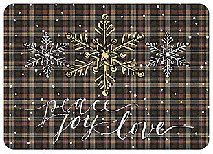 "Home Accents 1'10"" x 2'7"" Peace Joy Love Doormat, , large"