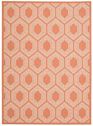 Nourison Waverly Sun N' Shade Orange 5'x8' Area Rug, Tangerine, large