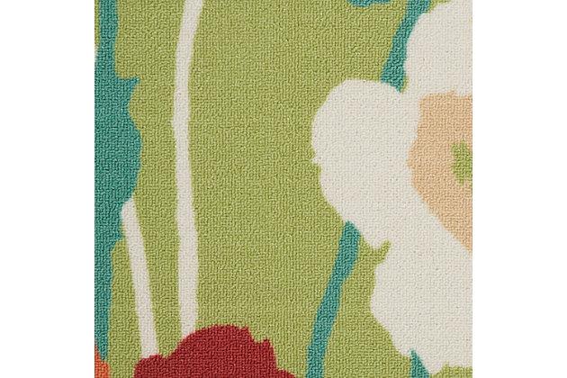 Nourison Waverly Sun N' Shade Green 5'x8' Area Rug, Seaglass, large