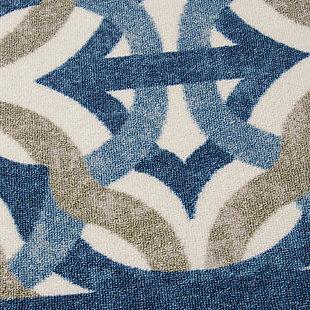 Nourison Waverly Sun N' Shade Blue 5'x8' Area Rug, Celestial, large