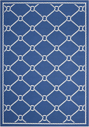 Nourison Waverly Sun N' Shade Dark Blue 5'x8' Area Rug, Navy, large