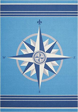 Nourison Waverly Sun N' Shade Blue 5'x8' Area Rug, Blue, large