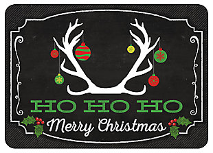 "Home Accents 1'10"" x 2'7"" Deer Ho Ho Ho Doormat, , large"