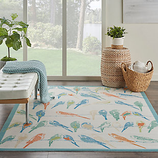 Nourison Waverly Sun N' Shade Multicolor 5'x8' Area Rug, Multi, rollover