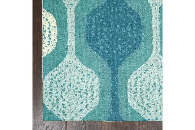 Nourison Waverly Sun N' Shade Blue 5'x8' Contemporary Area Rug, Aqua, large