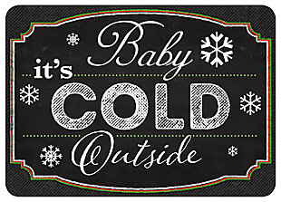 "Home Accents 1'10"" x 2'7"" Blackboard Cold Outside Color Doormat, , large"