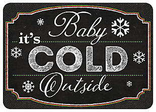"""Home Accents 1'10"""" x 2'7"""" Blackboard Cold Outside Color Doormat, , large"""