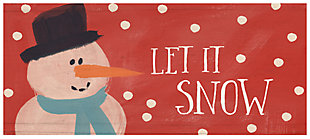 "Home Accents 1'10"" x 4'4"" Let It Snow Runner, , large"