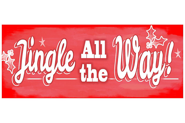 """Home Accents 1'10"""" x 4'4"""" Jingle All the Way Runner, , large"""