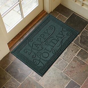 Home Accents 2' x 3' Happy Holidays Indoor/Outdoor Doormat, , rollover