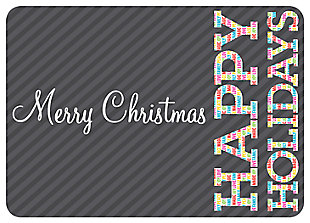 "Home Accents 1'10"" x 2'7"" Merry Brights Doormat, , large"
