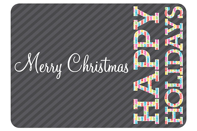 """Home Accents 1'10"""" x 2'7"""" Merry Brights Doormat, , large"""
