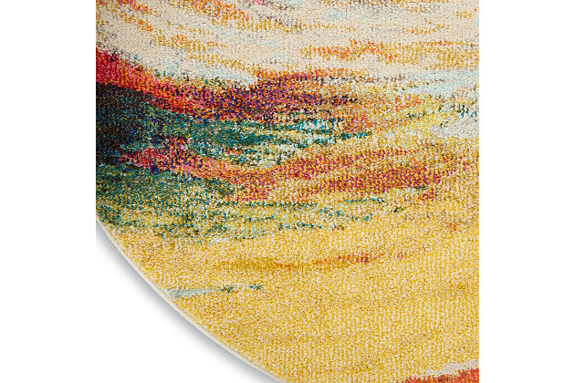 Nourison Celestial Ces07 Multicolor 4'x6' Colorful Area Rug, Wave, large