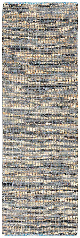"Home Accents Adobe 2' 6"" x 8' Runner, Gray, large"