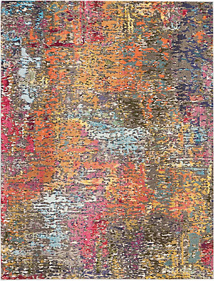 Nourison Celestial Multicolor 8'x11' Oversized Rug, Sunset, large