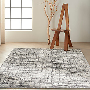 Nourison Rush 5' x 7' Area Rug, Ivory/Gray, rollover