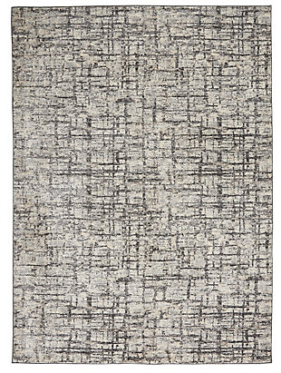 Nourison Rush 5' x 7' Area Rug, Ivory/Gray, large