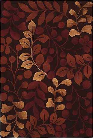 Nourison Contour Brown 8'x11' Rug, Chocolate, large