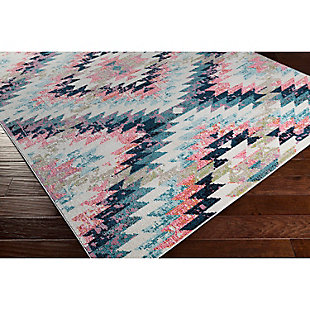 "Home Accents Anika 6' 7"" x 9' Area Rug, Blue, rollover"