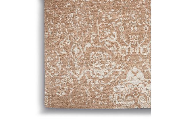 Nourison Damask 5' X 7' Area Rug, Beige Ivory, large