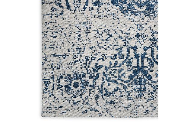 Nourison Damask 8' X 10' Area Rug, Blue, large