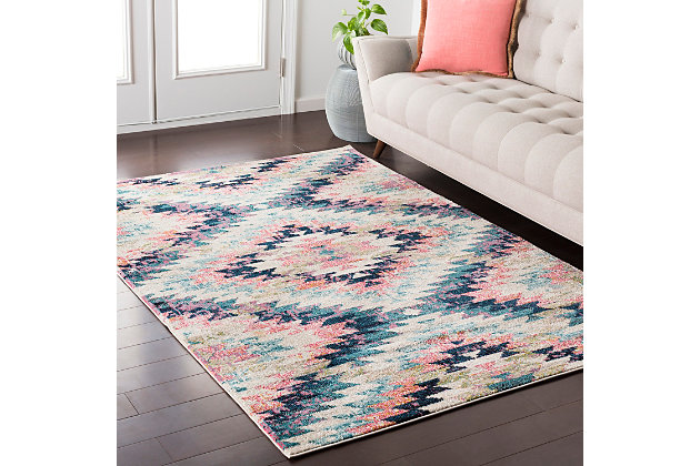 "Home Accents Anika 3' 11"" x 5' 7"" Area Rug, Blue, large"
