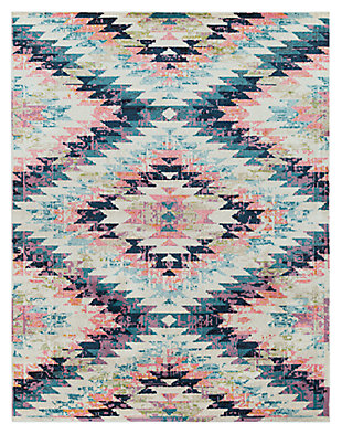 "Home Accents Anika 7' 10"" x 10' 3"" Area Rug, Blue, large"
