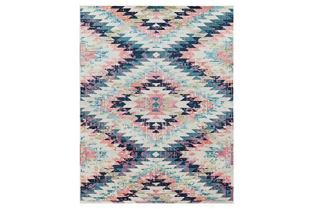 """Home Accents Anika 7' 10"""" x 10' 3"""" Area Rug, Blue, large"""