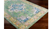 "Home Accents Aura silk 5' 3"" x 7' 6"" Area Rug, Green, rollover"