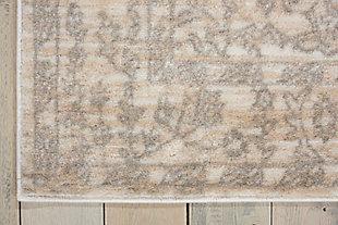 Nourison Euphoria White And Beige 5'x7' Area Rug, Bone, large