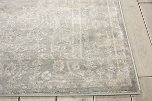 Nourison Euphoria Gray 8'x10' Large Rug, Gray, large