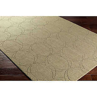 "Home Accents Ashlee 5' x 7' 6"" Area Rug, Olive, large"