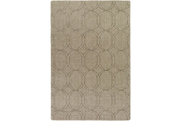 Home Accents Ashlee 2' x 3' Area Rug, Olive, large