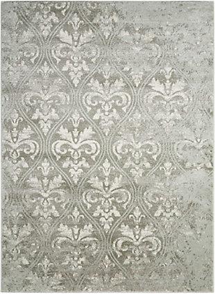 Nourison Euphoria Gray 5'x7' Area Rug, Gray, large