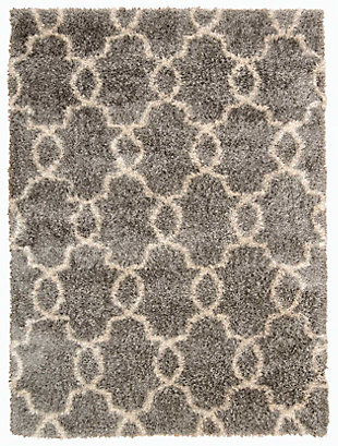 Nourison Escape Gray 5' x 7' Area Rug, Silver, large